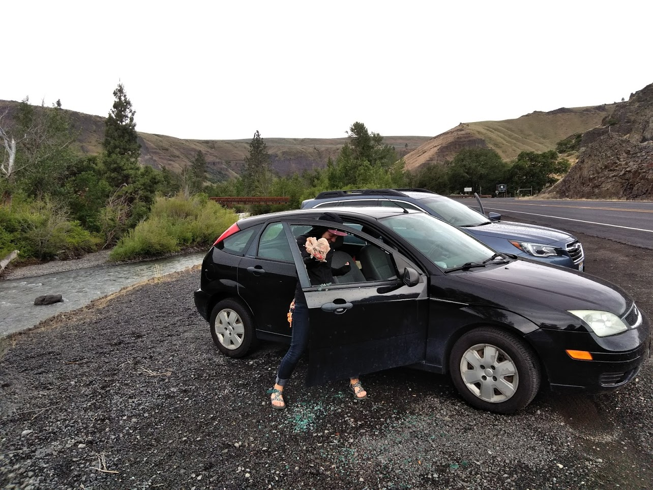 Car prowls on Highway 12